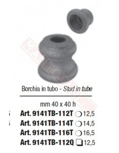 Borchia in ferro stampato con foro quadro diametro 12,5 mm 40 x 40 h per cancellate e inferriate