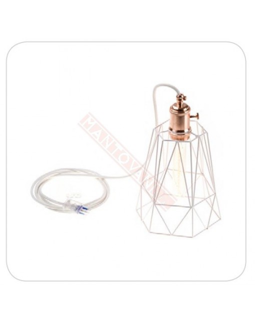 Amarcords lampadina led red copper white 10ah 200 lumen 2500 k gatsby led classe energetica A++