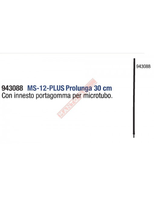 DEL TAGLIA MS-12-PLUS ASTINA PROLUNGA CM30 CON INNESTO FILETTTATO