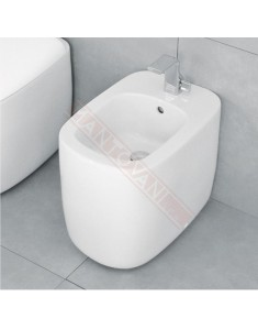 Flaminia Mn217 bidet Mono' back to wall monoforo