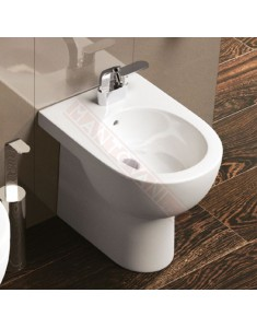 Flaminia Quick bidet back to wall monoforo bianco