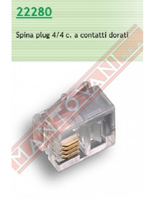 Fme connettore telefonico Plug 4\4