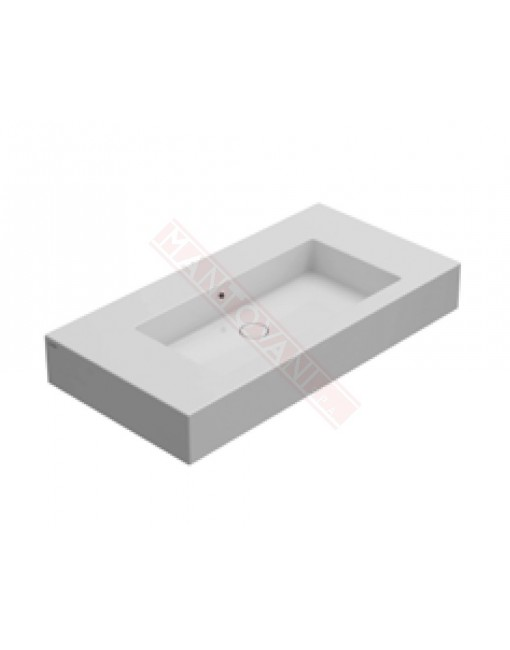 CONSOLLE INCANTHO LAVABO CENTRALE 101X51X14 BIANCO fo