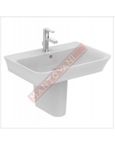 CONNECT CURVE LAVABO DA PARETE 700X460 MM IDEAL STANDARD CON FORO RUBINETTERIA