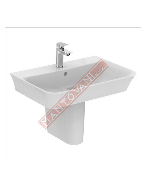 CONNECT CURVE LAVABO DA PARETE 650X460 MM IDEAL STANDARD CON FORO RUBINETTERIA