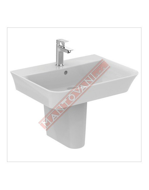 CONNECT CURVE LAVABO DA PARETE 600X460 MM IDEAL STANDARD CON FORO RUBINETTERIA