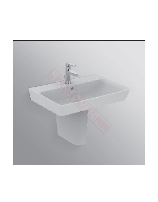 Connect Air lavabo Cube da 650 mm ideal standard con foro rubinetteria