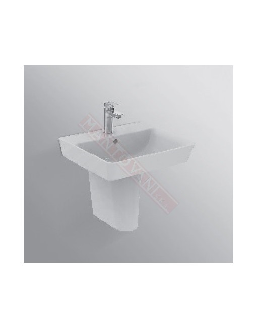 Connect Air lavabo Cube da 550 mm ideal standard con foro rubinetteria