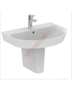 CONNECT ARC LAVABO DA PARETE 650X460 MM IDEAL STANDARD CON FORO RUBINETTERIA