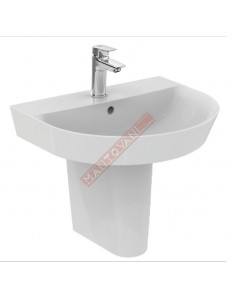 CONNECT ARC LAVABO DA PARETE 600X460 MM IDEAL STANDARD CON FORO RUBINETTERIA