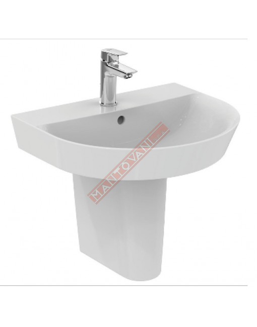 CONNECT ARC LAVABO DA PARETE 550X460 MM IDEAL STANDARD CON FORO RUBINETTERIA