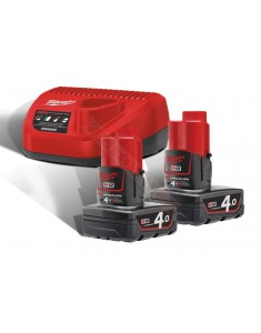 Milwaukee M12 NRG-402 kit energy 12 v promo 2018 con 2 batterie 12v 4a