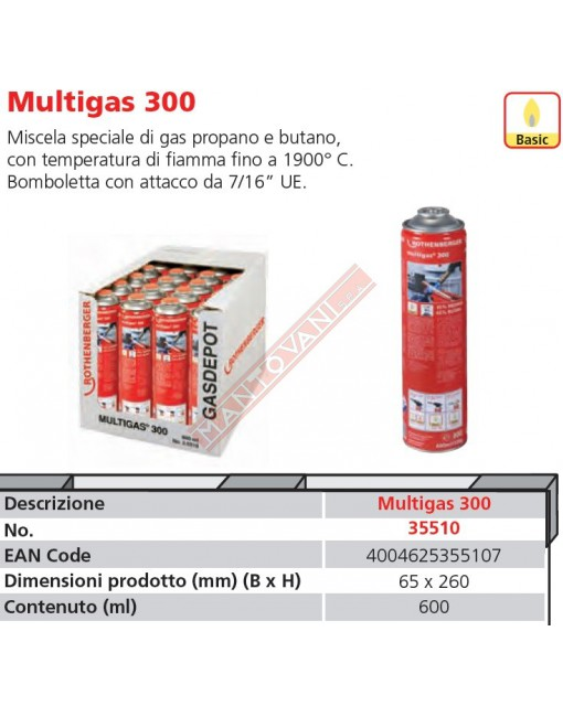 35510-A BOMBOLA MULTIGAS 300 ROTHENBERGER