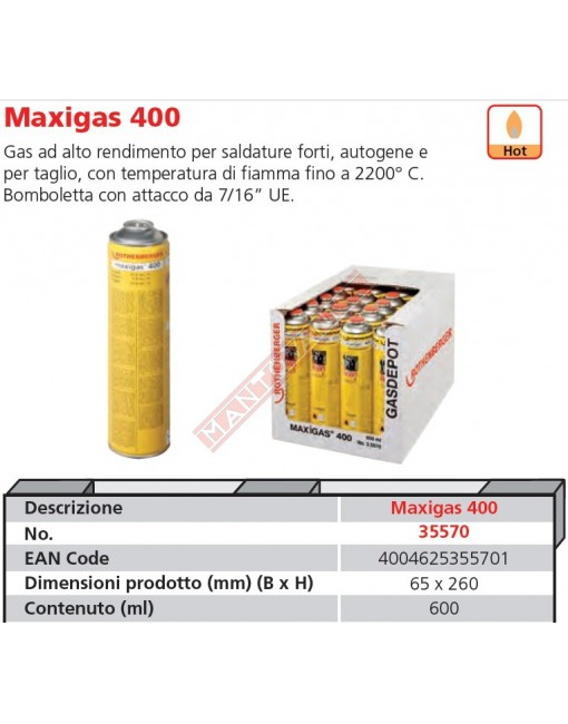 35570-A BOMBOLA MAXIGAS ML 600 ROTHENBERGER