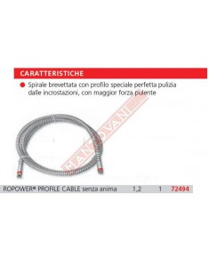 72494 SPIRALE DI PROLUNGA ROPOWER DIAM 16 MT 2.3 ROTHENBERGER