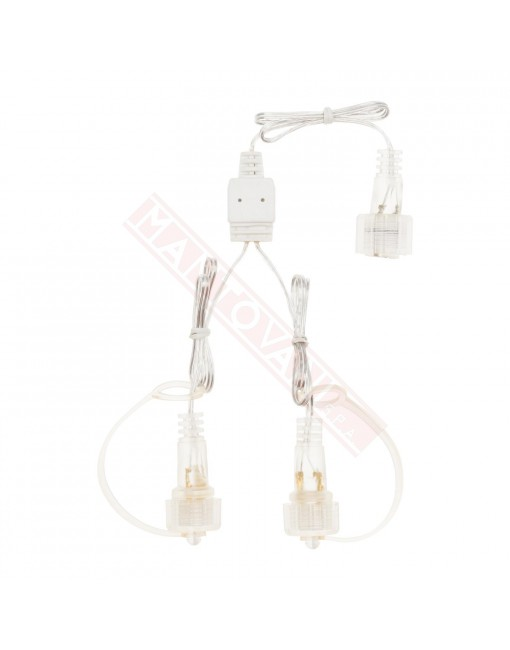 Lotti importex Accessorio per luminarie Smart System 2 Pin (compatibile SMART Connect) Cavo 1 entrata 2 uscite Esterno IP44
