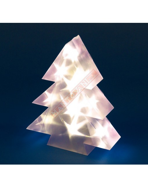 ALBERO MAGIC 3D 10 LED ELX ON OFF FLASH A BATTERIA H30CM PER INTERNO
