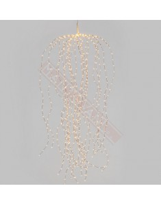 Cascata di Luce H140cm 3D Copper Metallo Marrone 672 MicroLED CLASSIC 1,5mm Cavo Metal Rame Controller effetto LightFall 7 Veloc